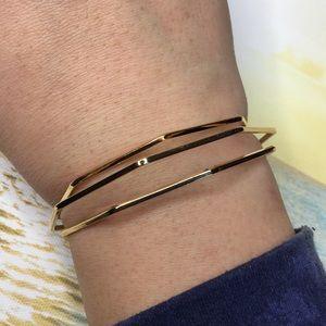 Gold Toned Geometric Bracelet